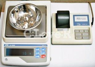 歯科用金銀パラジウム合金(歯科鋳造用12%金銀パラジウム合金)お買取の流れ(2B)開封済の場合は、電子計測器で計測