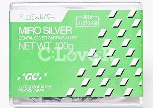 歯科鋳造用銀合金 管理医療機器認証番号220AABZX00093000