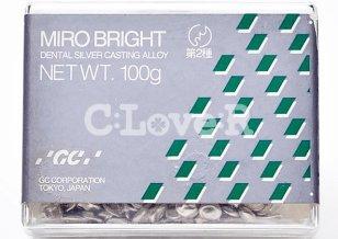 GC(ジーシー) 歯科鋳造用銀合金 第II種 ミロブライト